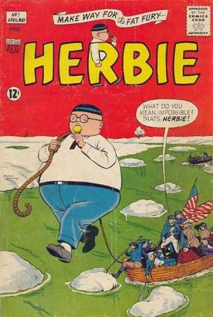 Herbie 1 - Herbie - Snow - Ice - American Flag - Men In Boat - John Byrne