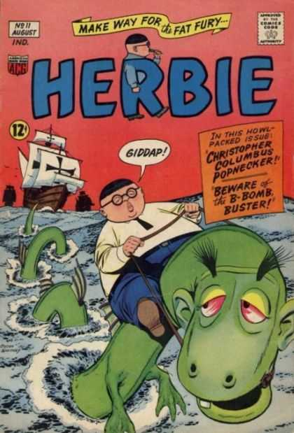 Herbie 11 - Sea Monster - Glasses - Riding - Ships - Cross
