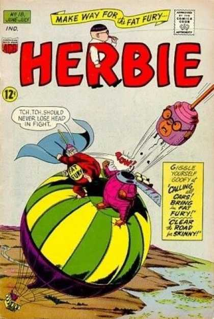 Herbie 18 - Herbie - Make Way For The Fat Fury - Hot Air Balloon - Cape - Plunger
