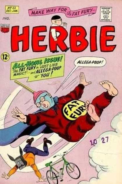 Herbie 22 - Make Way For The Fat Fury - Comics Code - Costume - Allega-poop - Byke