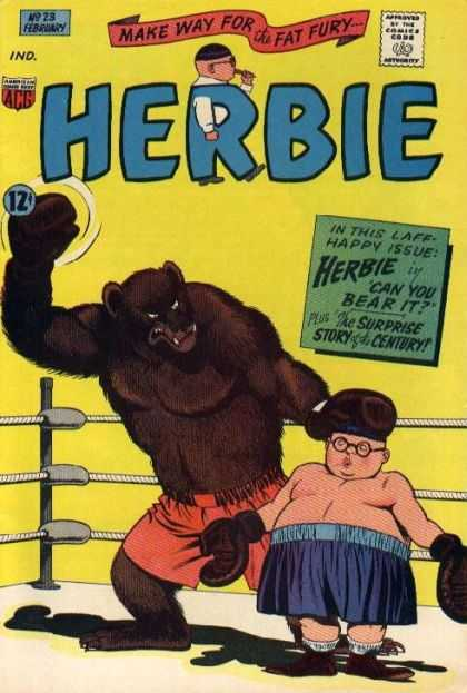 Herbie 23 - Comics Code - Make Way For The Fat Fury - Bear - Man - Fight