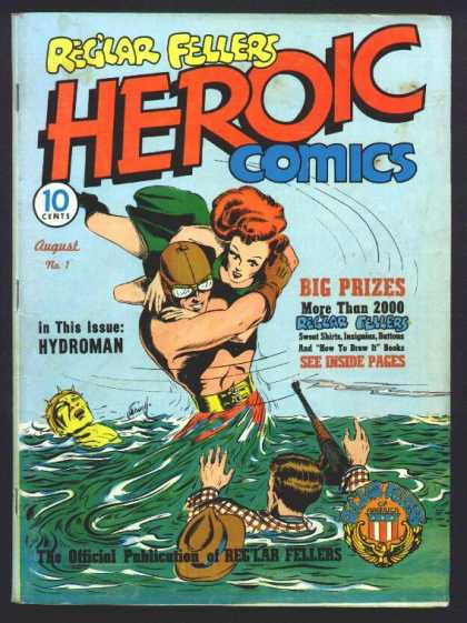 Heroic Comics 1 - Reglar Fellers - Man - Woman - Big Prizes - Hydroman