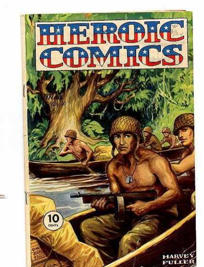 Heroic Comics 30 - Army - Jungle - Boat - River - Dog Tag