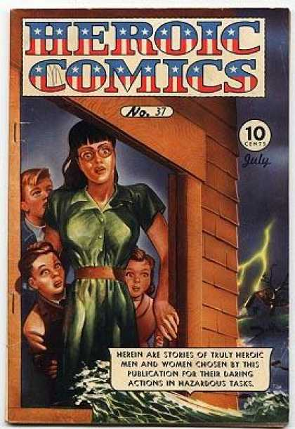 Heroic Comics 37 - Children - Window - Scared Female - Lightning Bolt - Storm