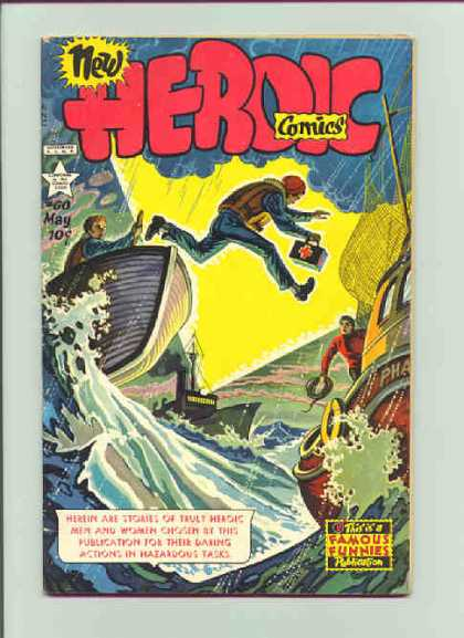 Heroic Comics 60 - May - Boat - Water - First Aid - Men