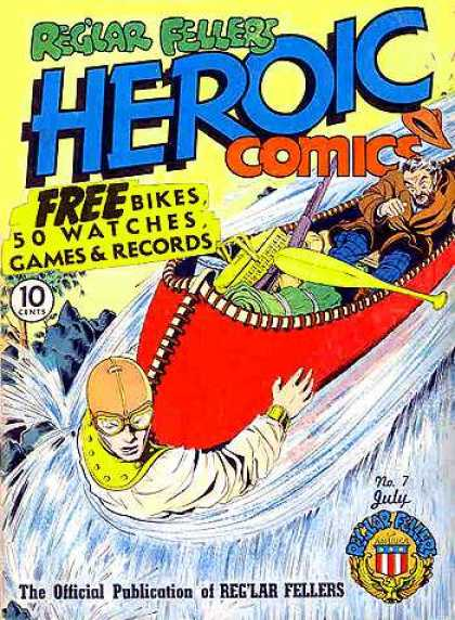 Heroic Comics 7 - Waterfall - Free Bikes - Canoe - No 7 - July