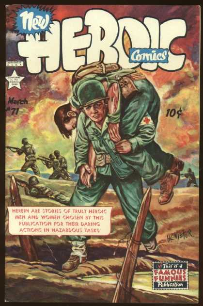 Heroic Comics 71 - New - Soldier - Famous Funnies - Publication - Rifle