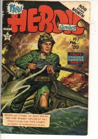 Heroic Comics 80 - Military Man - Guns And Ammo - Fatigues - National Hero - Protect And Serve