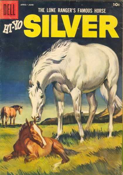 Hi-Yo Silver 26 - Horses - The Lone Rangers - Dell - White Horse - Outdoor