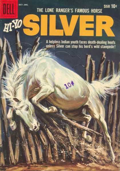 Hi-Yo Silver 32 - Lone Ranger - White Horse - Fence - Indian Youth - Wire