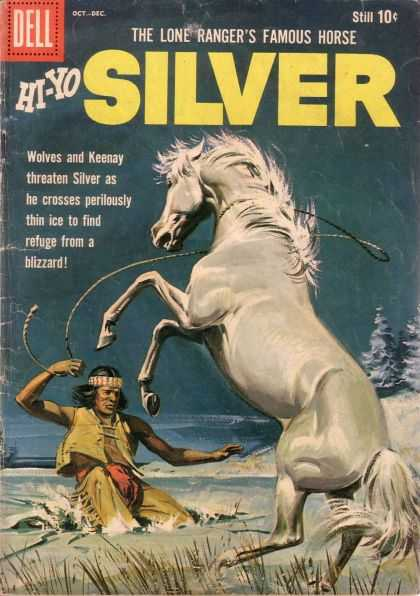 Hi-Yo Silver 36 - Dell - The Lone Rangers Famous Horse - Snow - Tree - Indian