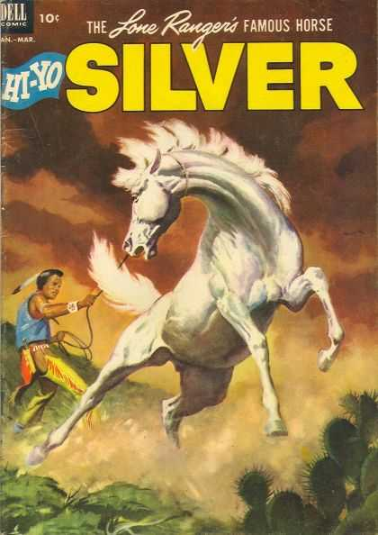 Hi-Yo Silver 5 - Dell Comics - The Love Rangers Famous Horse - Jan-mar - Rope - Shrub