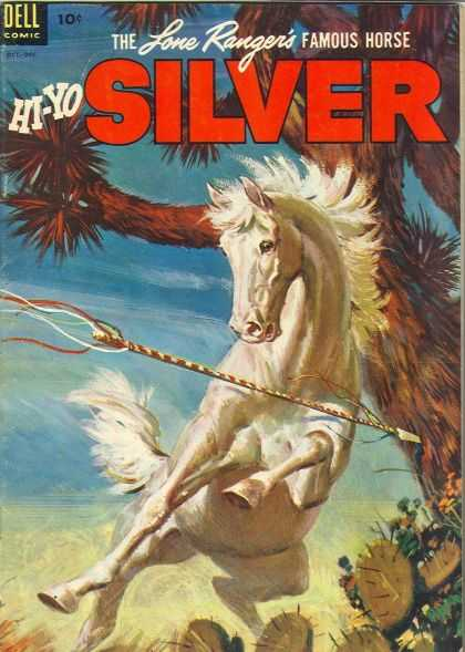 Hi-Yo Silver 8 - The Lone Rangers Famous Horse - Horse - White - Dell Comic - Cactus