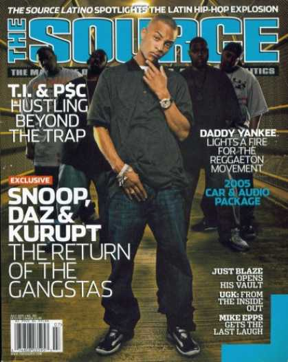 Hip Hop Books - The Source Hip Hop Magazine Issue #189 July 2005 T.I.
