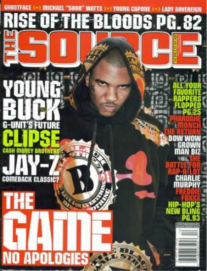 Hip Hop Books - The Source Hip Hop Magazine Issue #205 December 2006 The Game