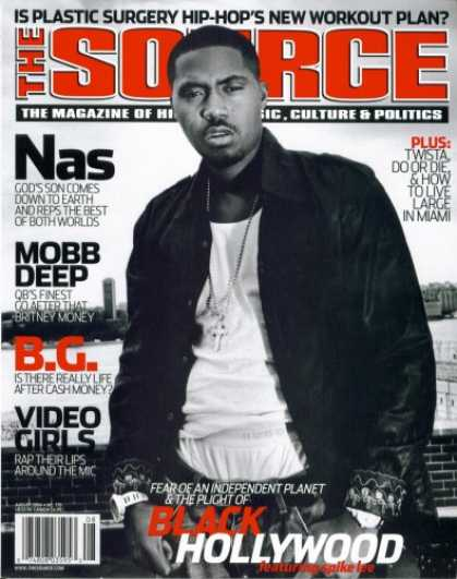 Hip Hop Books - The Source Hip Hop Magazine Issue #179 Aug 2004 Nas