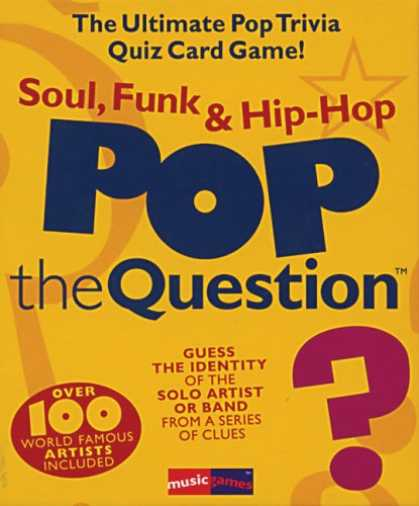 Hip Hop Books - Pop The Question - Soul, Funk & Hip Hop (The Game Series)