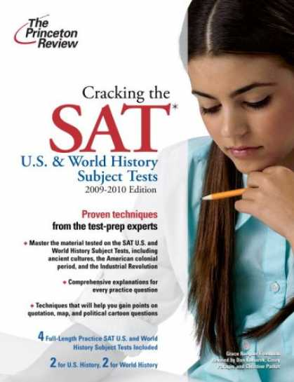 History Books - Cracking the SAT U.S. & World History Subject Tests, 2009-2010 Edition (College