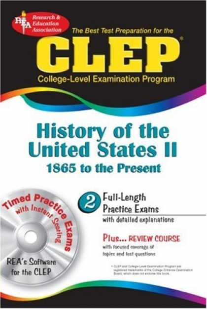 History Books - CLEP History of the United States II w/CD (REA) - The Best Test Prep for the CLE