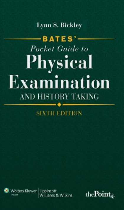 History Books - Bates' Pocket Guide to Physical Examination and History Taking