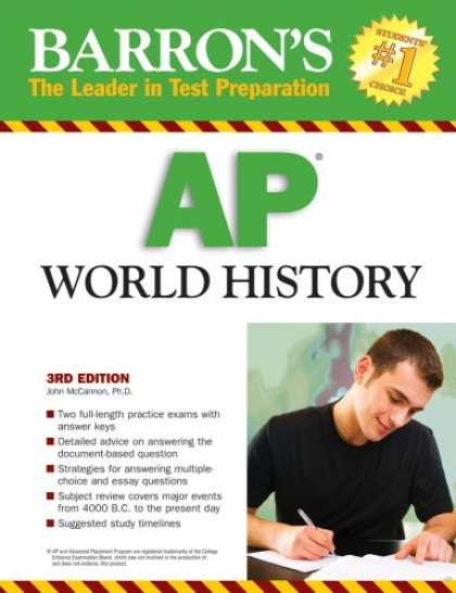 History Books - Barron's AP World History, Third Edition (Barron's How to Prepare for the AP Wor