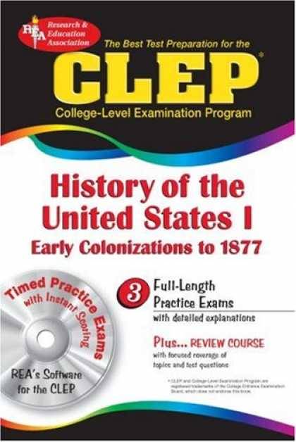 History Books - The CLEP History of the United States I w/CD (REA) - The Best Test Prep for the