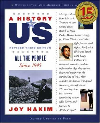 History Books - A All the People: Since 1945 A History of US Book 10