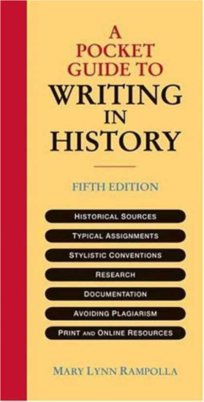 History Books - A Pocket Guide to Writing in History