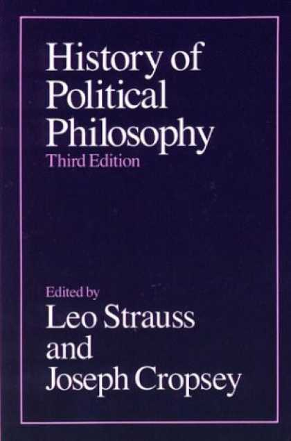 History Books - History of Political Philosophy