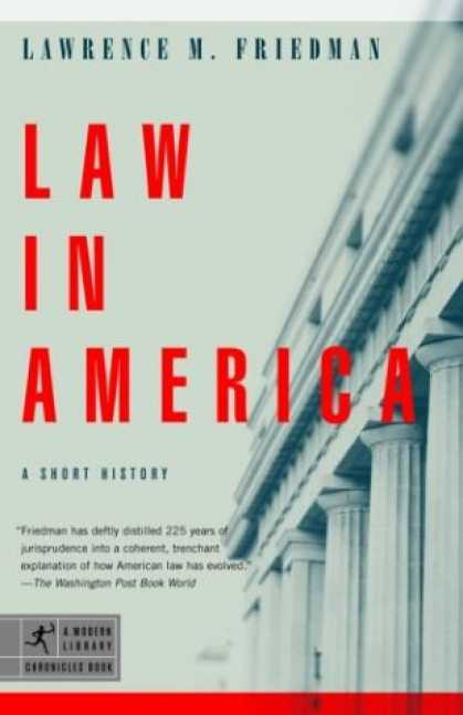 History Books - Law in America: A Short History (Modern Library Chronicles)