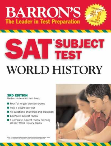 History Books - Barron's SAT Subject Test World History (Barron's How to Prepare for the Sat II