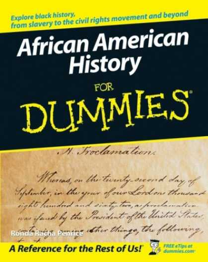 History Books - African American History For Dummies (For Dummies (History, Biography & Politics