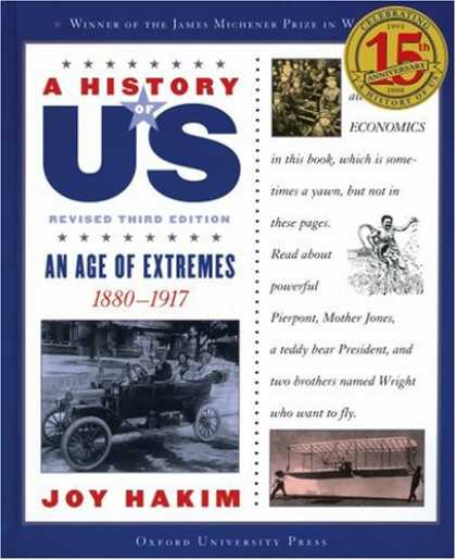 History Books - An Age of Extremes: 1880-1917 A History of US Book 8