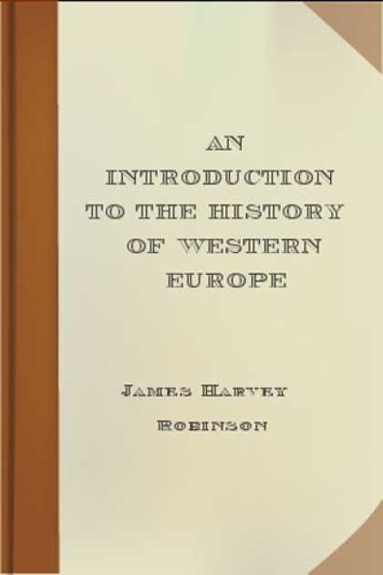 History Books - An Introduction to the History of Western Europe