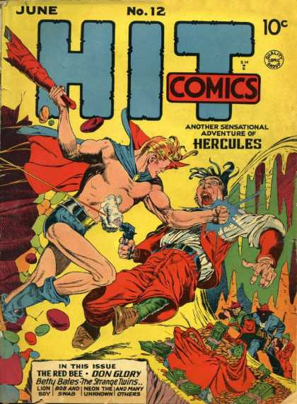Hit Comics 12 - Money - Club - Gun - Superhero - Punch