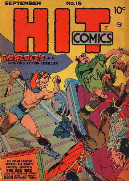 Hit Comics 15 - No 15 - Hercules - Don Glory - Betty Bates - The Red Bee