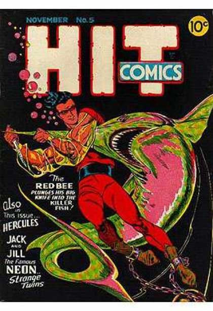 Hit Comics 5 - Red Bee - November - Killer Fish - Hercules - Knife