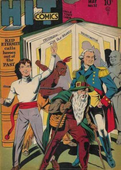 Hit Comics 52 - General - Indian - Matador - White Wig - Pages Of A Book