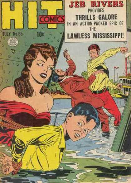 Hit Comics 65 - Hit - Water - Lady - Two Man - Flag