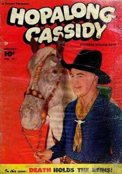 Hopalong Cassidy 15 - Death Holds The Reins - Horse - Cowboy - Bridle - No 15
