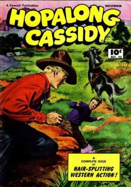Hopalong Cassidy 25 - Fawcett - Action - Western - Issue - Horse