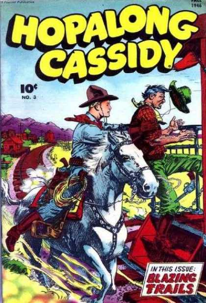 Hopalong Cassidy 3 - Horse - Cowboy - Hat - Wind - Blowing