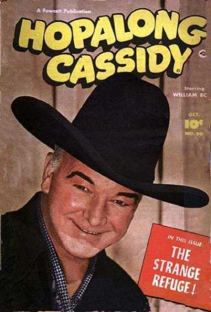 Hopalong Cassidy 60 - Fowcett Publication - Cowboy - Hat - William Dc - The Strange Refuge