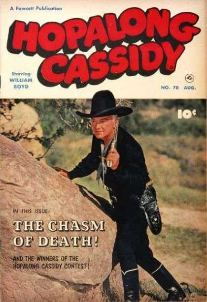 Hopalong Cassidy 70 - Fawcett Publication - William Boyd - Aug - Man - Hat