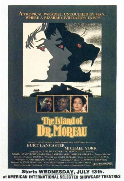 Horror Posters - The Island of Dr. Moreau