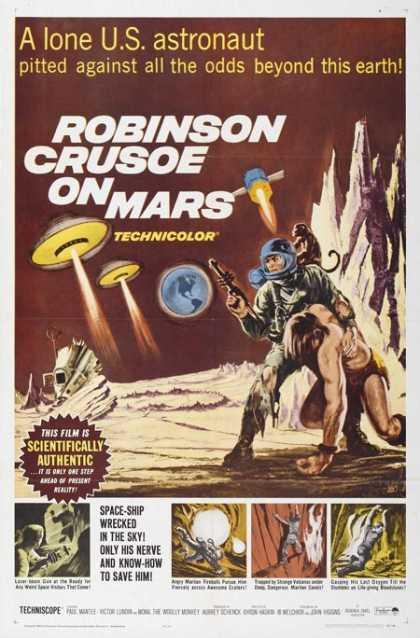 Horror Posters - Robinson Crusoe on Mars