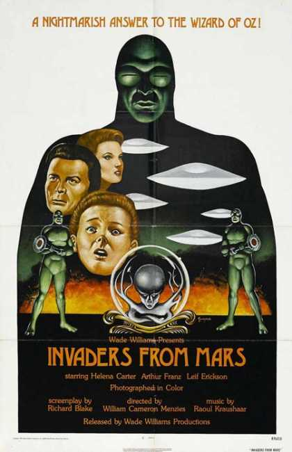 Horror Posters - Invaders From Mars