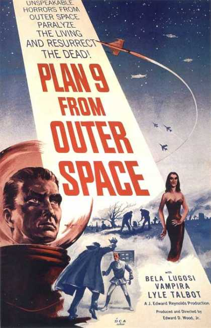 Horror Posters - Plan 9 From Outer Space