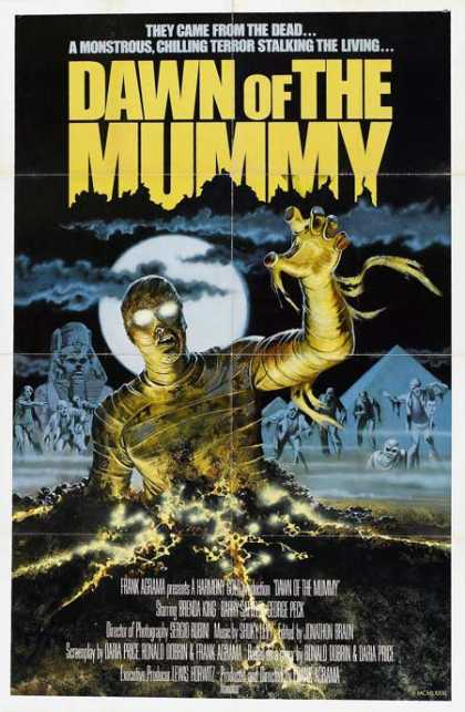 Horror Posters - Dawn of the Mummy