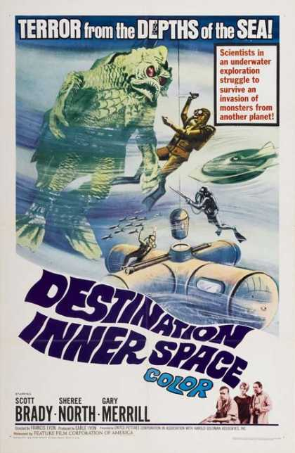 Horror Posters - Destination Inner Space